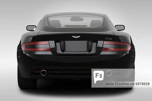 Hinten Sie 2008 Aston Martin Db9 In Schwarz Low Wide