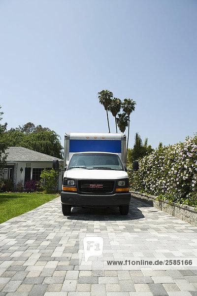 parken Bewegung Lastkraftwagen Fahrweg