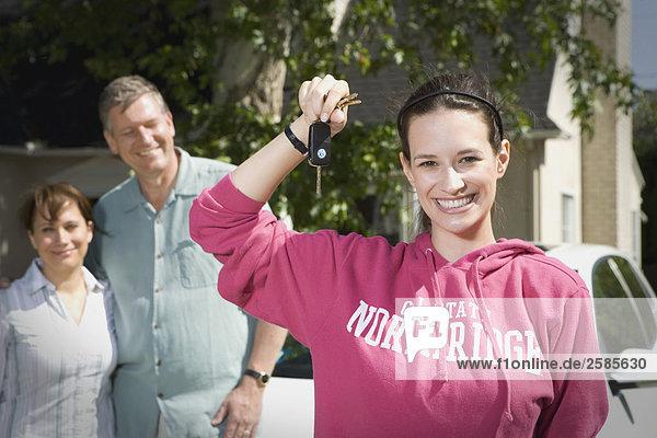 empfangen Menschliche Eltern binden Hochschule Mädchen VW