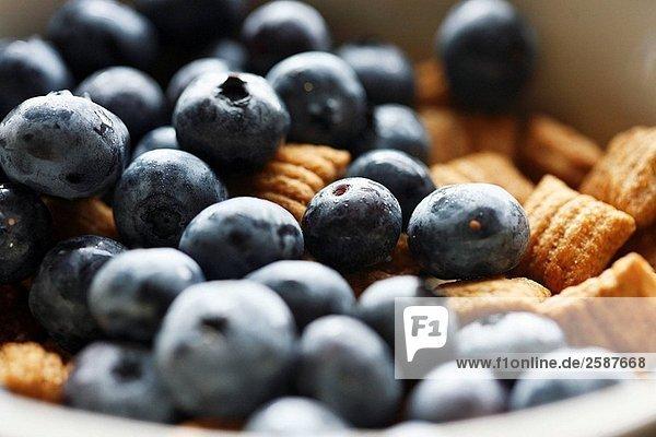 Blaubeeren mit Getreide