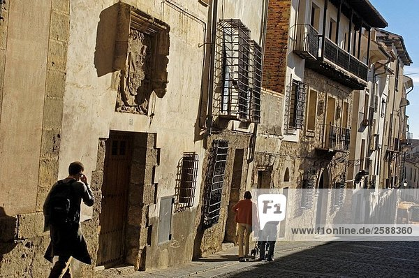 Straße Stadt Kastilien-La Mancha Cuenca alt Spanien