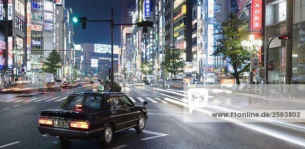 Shinjuku Ward bei Nacht  Tokio