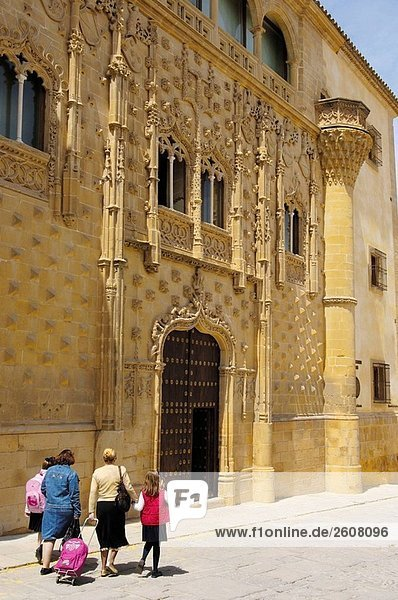 Jabalquinto Palace (Jahrhundert)  Baeza. Provinz Jaen  Andalusien  Spanien