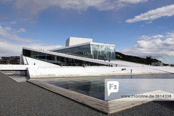 Oslo Hauptstadt Norwegen Opernhaus Oper Opern