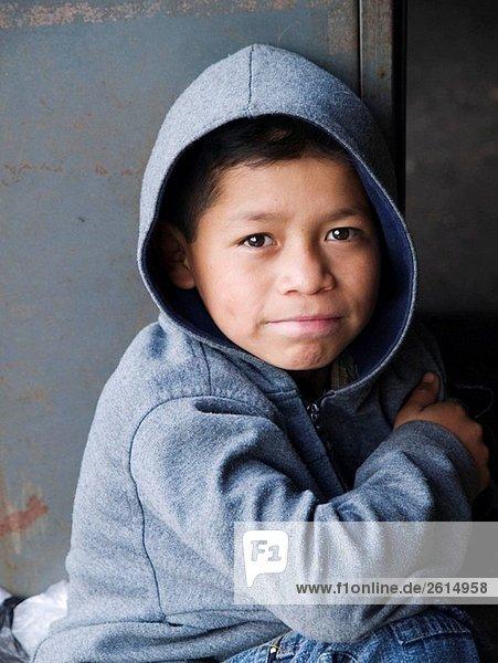 Boy in market in Antigua  Guatemala