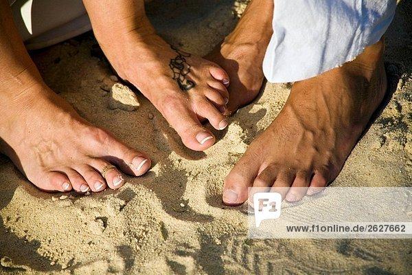Füße in sand