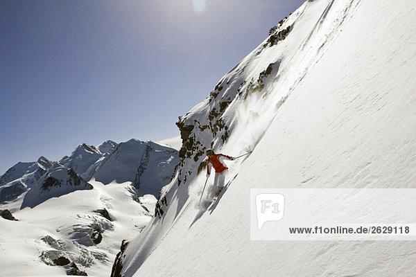Italien  Tirol  Monte Rosa  Freeride  Herrenabfahrt