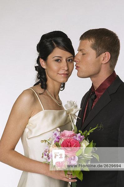 Brautpaar am Hochzeitstag  Portrait