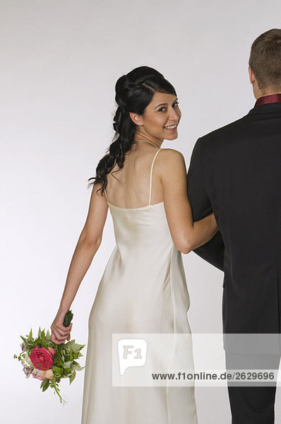 Braut und Bräutigam  lächelnd  Portrait