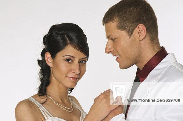 Portrait von Braut und Bräutigam