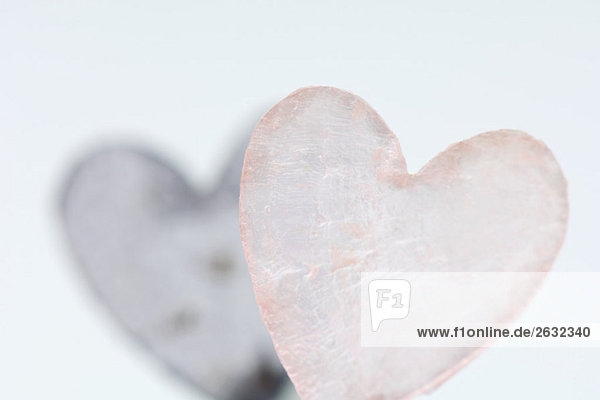 Heart-shaped piece of glass