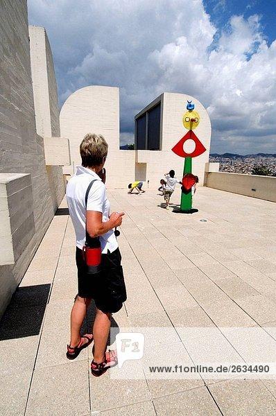 Joan Miro-Stiftung  Barcelona. Katalonien  Spanien