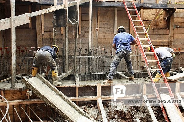 Bau/Mason Arbeitnehmer Arbeitsbedingungen auf konkrete Fußnote