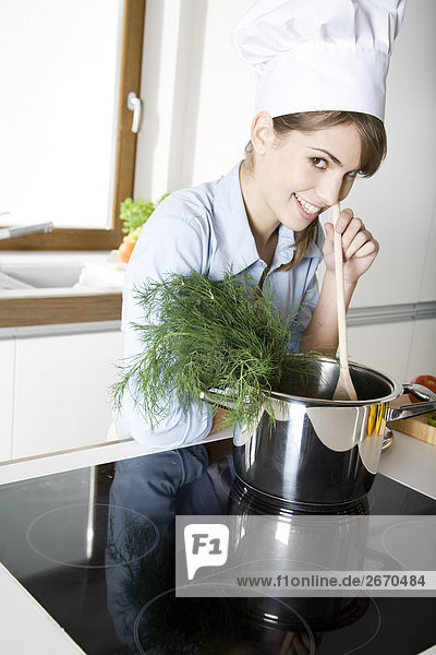 Frau Kochen