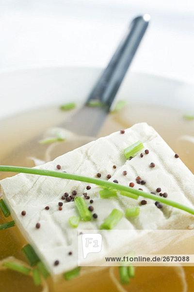 Tofu Close-up Misosuppe Suppe