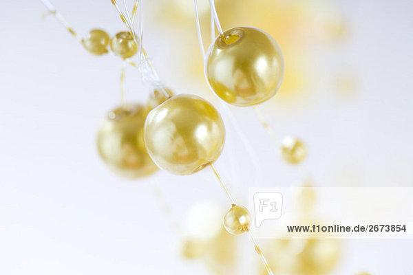 Dekorative gold Garland  Nahaufnahme