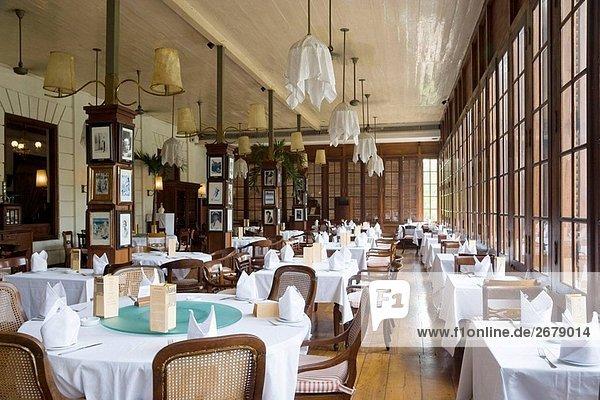 Interior Cafe Batavia  Jakarta  Indonesien. Innere des Cafe Batavia