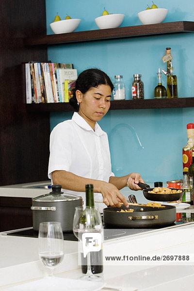 Lebensmittel Vorbereitung Küche Putzfrau