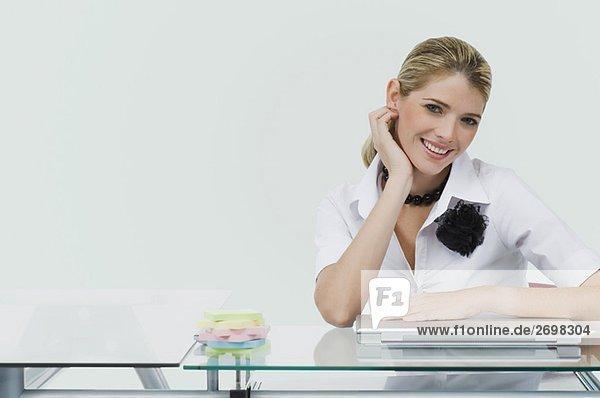 Portrait of a businesswoman smiling