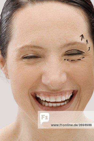 junge Frau junge Frauen lächeln Markierung Close-up close-ups close up close ups