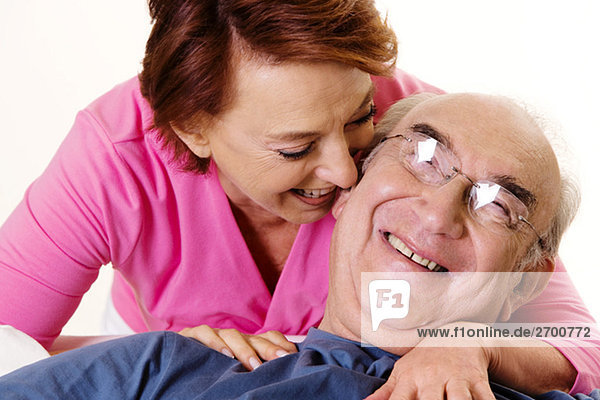 Senior Senioren lächeln Close-up close-ups close up close ups