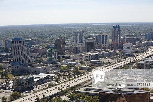 Luftbild der Stadt  Orlando  Florida  USA