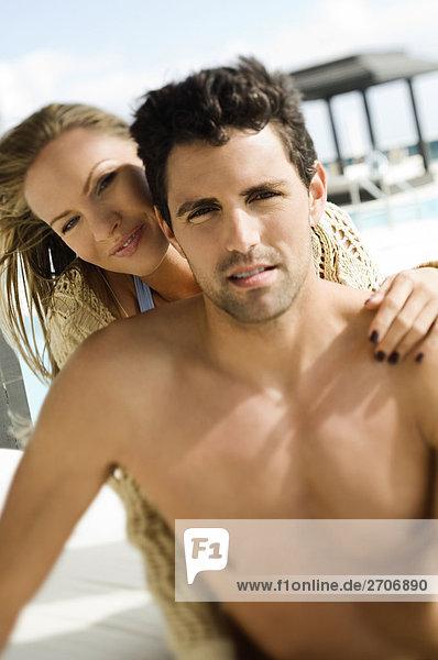 Portrait Beckenrand Mittelpunkt Romantik Erwachsener