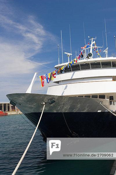 Passagierschiff moored at eine Pier  Navy Pier  Chicago  Illinois  USA