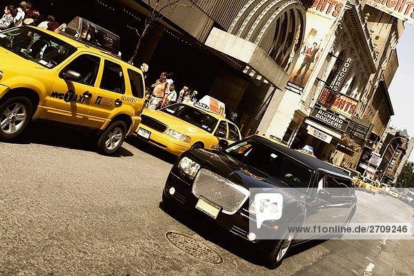 Vehicles on the road  Broadway  Manhattan  New York City  New York State  USA