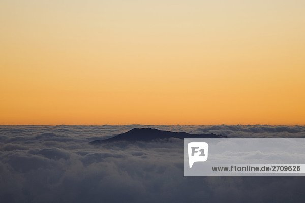 Sturm Waves in das Meer  Mauna Kea  Hilo  Hawaii  USA