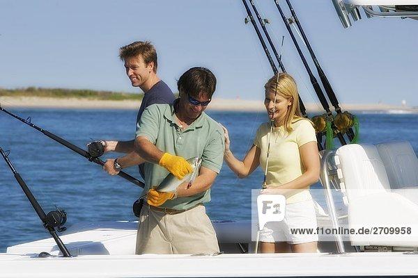 Tourist Meer angeln