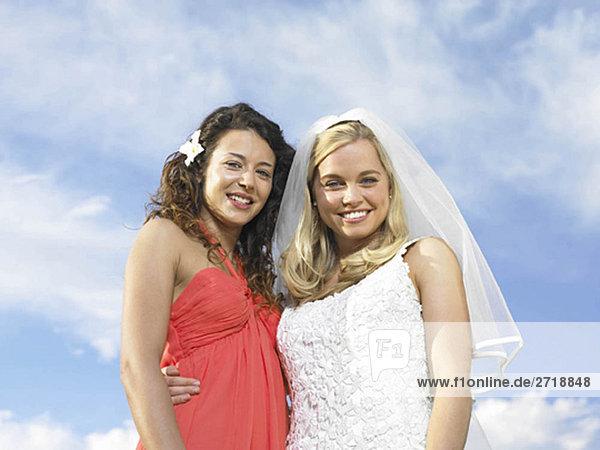 Portrait von Braut und Brautjungfer