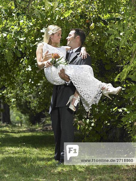 Bräutigam mit Braut