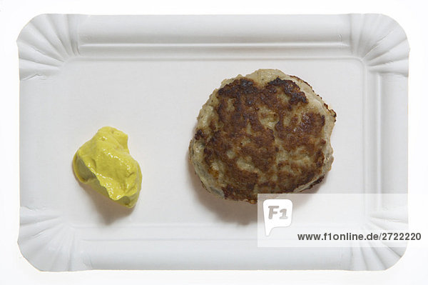 Meatball und Senf  Nahaufnahme