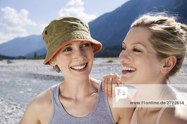 Tölzer Land  Young women smiling  portrait