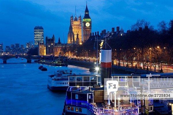 Großbritannien, Gebäude, London, Hauptstadt, Fluss, Themse, Parlamentsgebäude