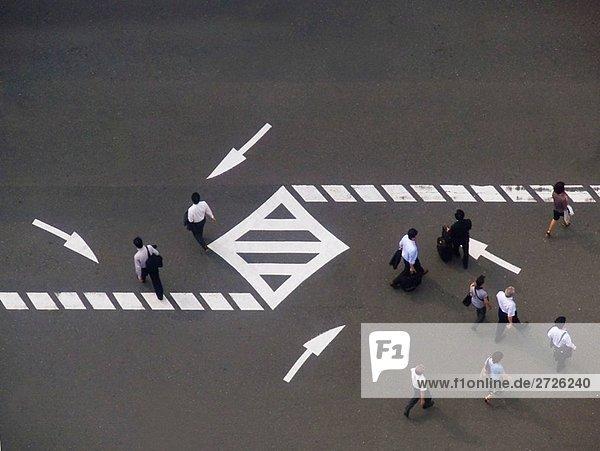 Fußgänger Osaka Japan