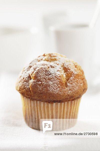 Muffin mit Puderzucker