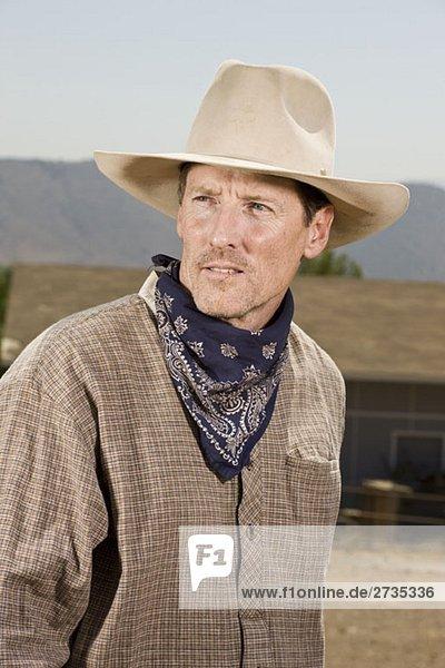 Porträt eines Ranchers Porträt eines Ranchers
