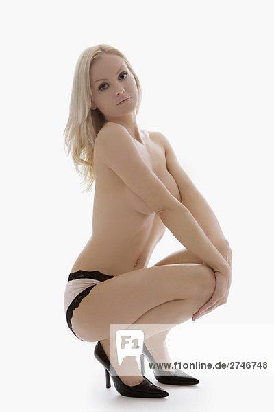 Portrait einer jungen Frau posieren