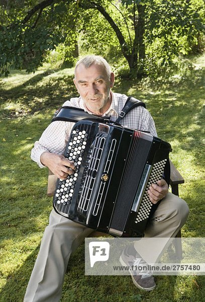 Man with accordion Man with accordion