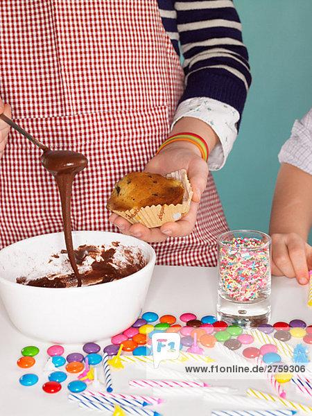 Kinder Bäckerei Königin Kuchen Dänemark.