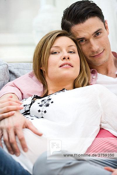 Frau Mann Schwangerschaft
