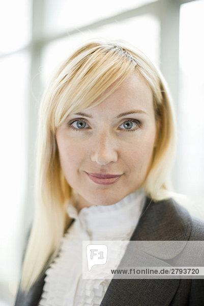 Close up Portrait von lächelnd geschäftsfrau