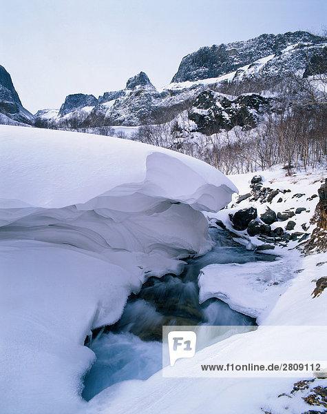 Schneelandschaft des Songhua River