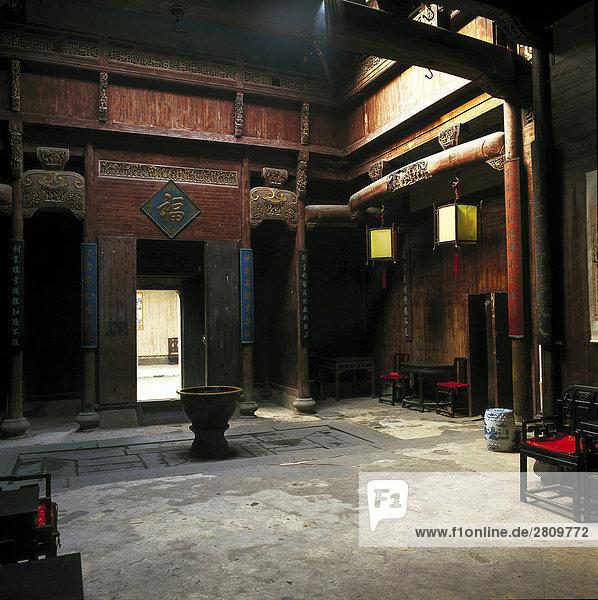 Indoor scene  Nanping Village  Yi County  Anhwei
