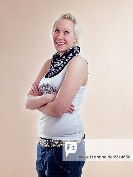 Portrait einer skandinavischen Teenagerin.