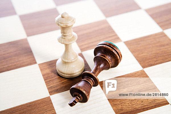 Eine Partie Schach Schweden.