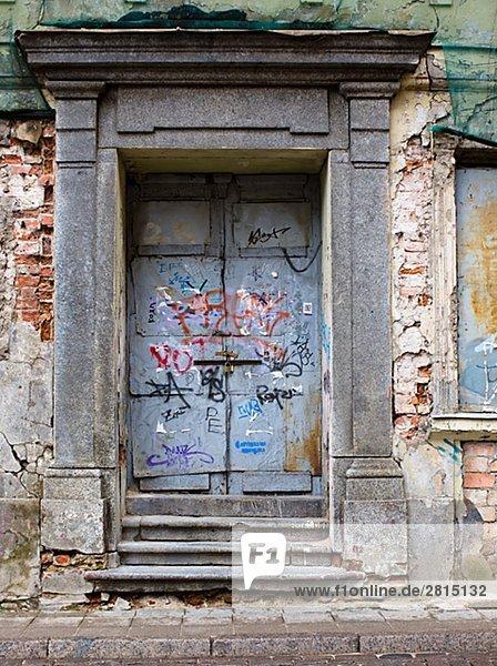 A house to be demolished Latvia.