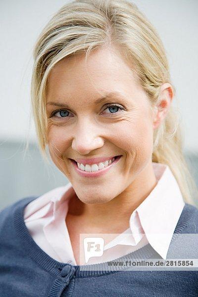 Portrait von einem lächelnden Frau Schweden.